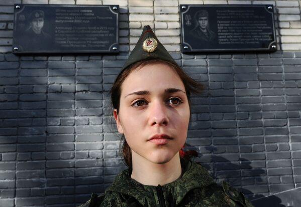 Открытие мемориальной доски в честь морского пехотинца Александра Позынича - Sputnik Mundo