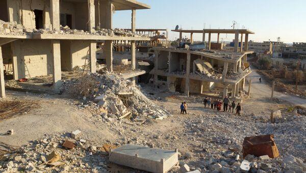 Edificios destruidos en Naemeh, Siria - Sputnik Mundo