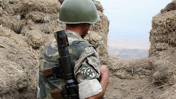 Soldado del Ejército de Nagarno Karabaj - Sputnik Mundo