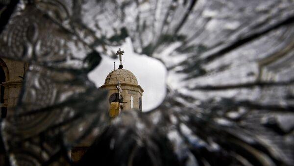 Una iglesia en Damasco destruida por los islamistas - Sputnik Mundo
