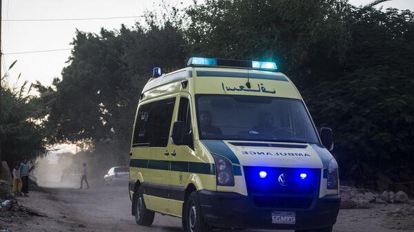 Ambulancia en Egipto (imagen referencial) - Sputnik Mundo