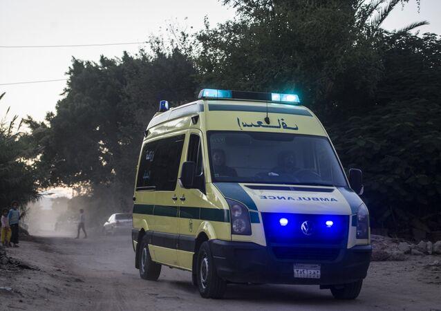 Ambulancia en Egipto
