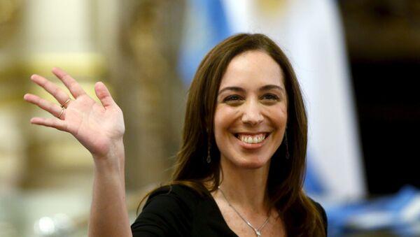 María Eugenia Vidal, gobernadora de Buenos Aires (archivo) - Sputnik Mundo