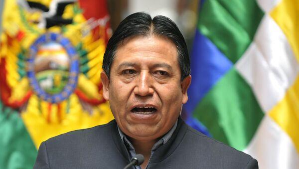 David Chuquehuanca, canciller boliviano - Sputnik Mundo