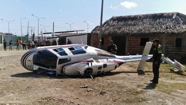 Сaída de helicóptero militar venezolano en Colombia - Sputnik Mundo