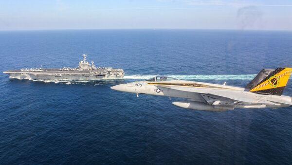 Portaaviones Harry Truman en el Golfo de Omán - Sputnik Mundo