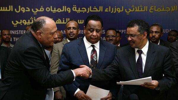 La reunión de los ministros de Exteriores de Egipto, Etiopía y Sudán - Sputnik Mundo
