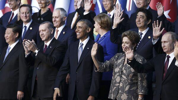 Líderes mundiales durante la cumbre de G20 en Antalya - Sputnik Mundo