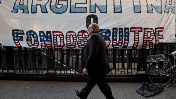 La cartel Argentina o fondos buitres en Buenos Aires (arсhivo) - Sputnik Mundo