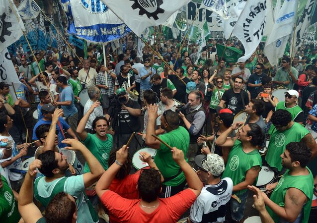 Trabajadores contra el gobierno de Mauricio Macri (archivo)