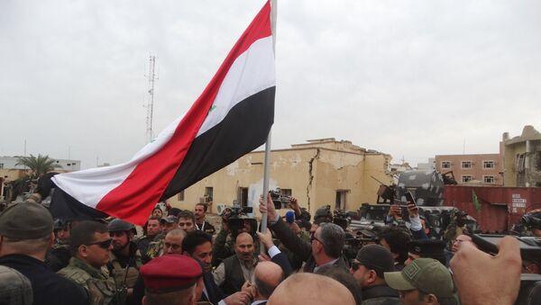Haider al-Abadi, primer ministro de Irak, en la ciudad de Ramadi - Sputnik Mundo