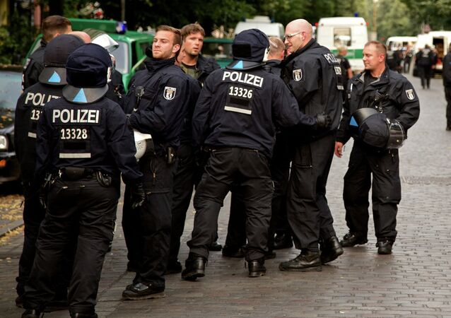 Policía alemana en Berlín