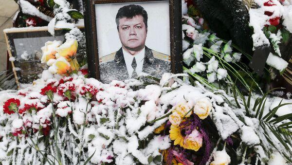 Retrato del piloto Oleg Péshkov, fallecido en el cielo sobre Siria - Sputnik Mundo