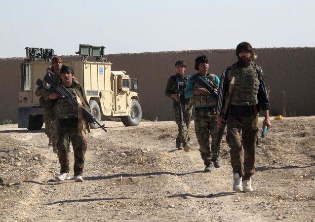 Soldados del Ejército Nacional Afgano (ENA)