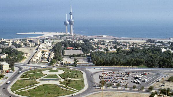 La vista a la ciudad de Kuwait con las torres que la simbolzan - Sputnik Mundo
