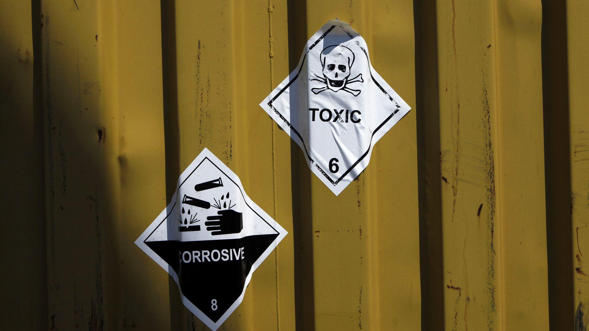 Etiquetas en los contenedores de armas químicas - Sputnik Mundo, 1920, 13.05.2021