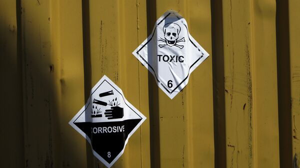 Etiquetas en los contenedores de armas químicas - Sputnik Mundo