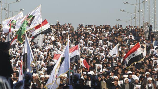 Manifestaciones en Irak tras la ejecución del clérigo chií, Nimr al Nimr, en Arabia Saudí - Sputnik Mundo