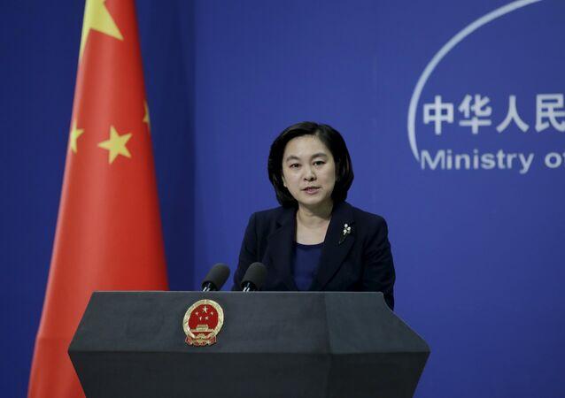 Hua Chunying, portavoz de la cancillería china