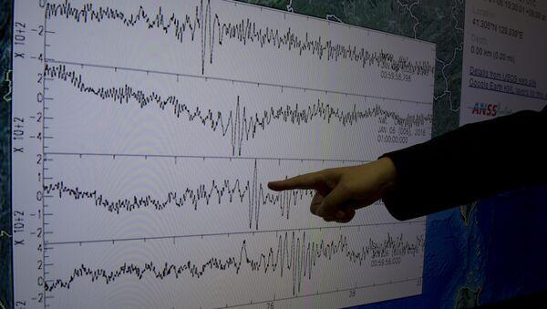 Datos recibidos por un Centro de Sismología de Taiwán después de la prueba nuclear norcoreana - Sputnik Mundo