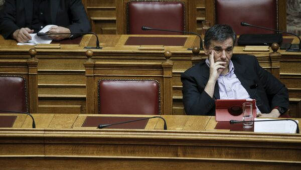 Euclides Tsakalotos, el ministro de Finanzas de Grecia - Sputnik Mundo