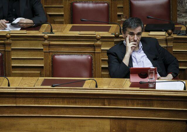 Euclides Tsakalotos, el ministro de Finanzas de Grecia