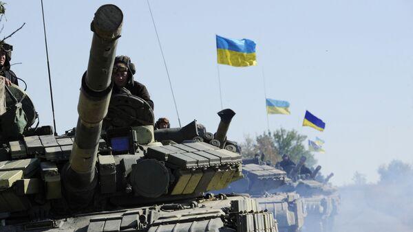Tanques del Ejército de Ucrania en la provincia de Lugansk (archivo) - Sputnik Mundo