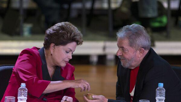Dilma Rousseff, presidenta de Brasil, y Luiz Inácio Lula da Silva, el exmandatario del paìs - Sputnik Mundo