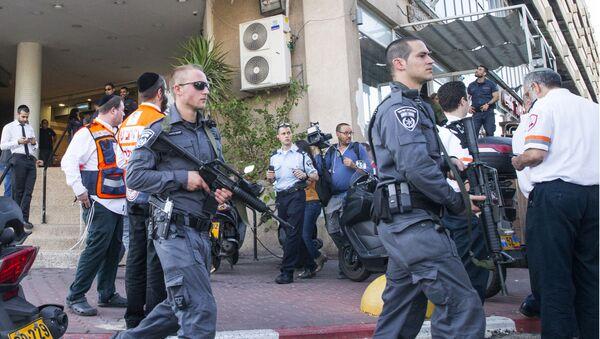 Fuerzas de seguridad israelíes en Tel Aviv (Archivo) - Sputnik Mundo