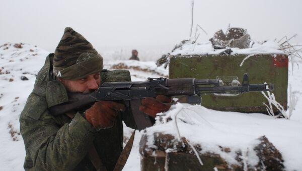 Miliciano de Donbás, el 7 de enero de 2016 - Sputnik Mundo