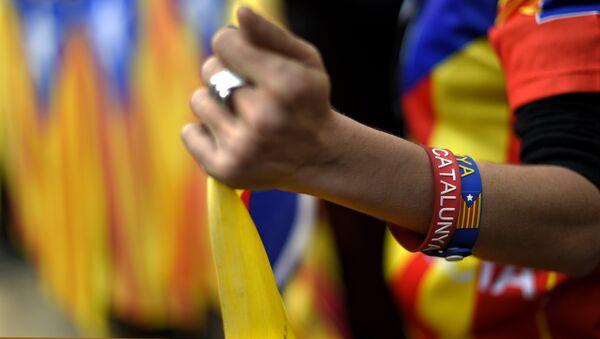 Partidarios del proceso soberanista de Cataluña - Sputnik Mundo