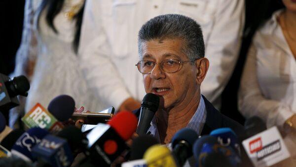 Henry Ramos Allup,  secretario general del partido opositor Acción Democrática (AD) - Sputnik Mundo