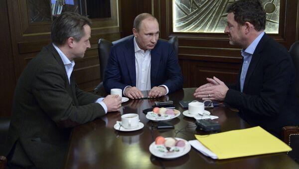 Presidente de Rusia, Vladímir Putin, durante una entrevista con el diario alemán Bild - Sputnik Mundo