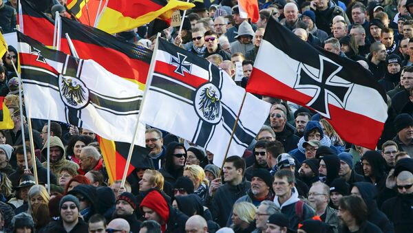 Manifestación de derechistas en Alemania - Sputnik Mundo