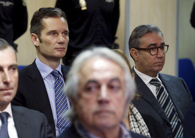Iñaki Urdangarin (izda.) y Diego Torres