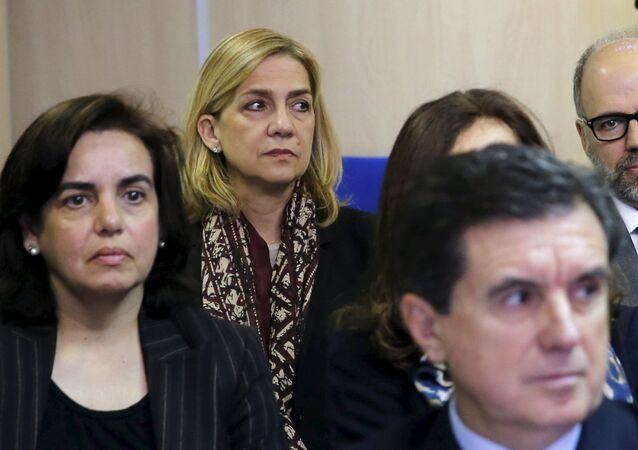 La infante Cristina de Borbón, el 11 de enero de 2016