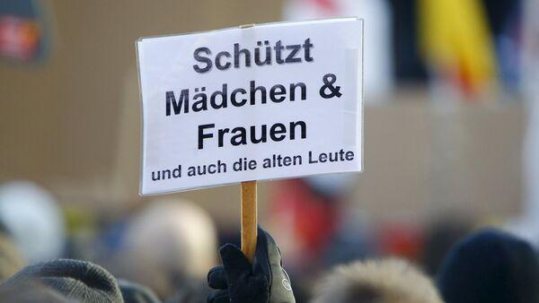 Manifestación en Colonia tras las violaciones sexuales a mujeres alemanas en la noche de Año Nuevo - Sputnik Mundo