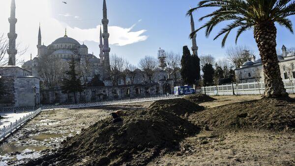Lugar de la explosión en Estambul - Sputnik Mundo