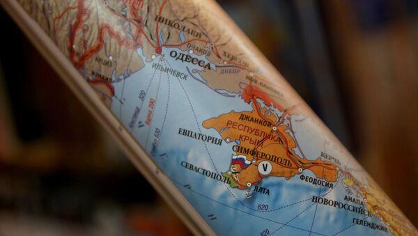 Mapa político mostrando a Crimea como parte de la Federación de Rusia - Sputnik Mundo
