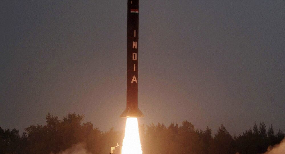 The Nuclear capable Agni-I strategic ballistic missile