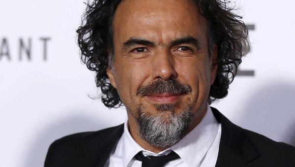 Cineasta mexicano Alejandro Gonzalez Iñárritu en el estreno de El Renacido en Hollywood - Sputnik Mundo