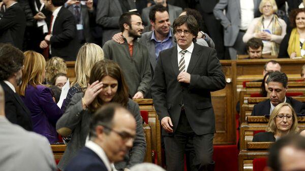 Carles Puigdemont, presidente de Cataluña - Sputnik Mundo