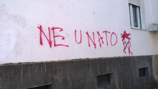 Graffiti contra la OTAN en Montenegro - Sputnik Mundo