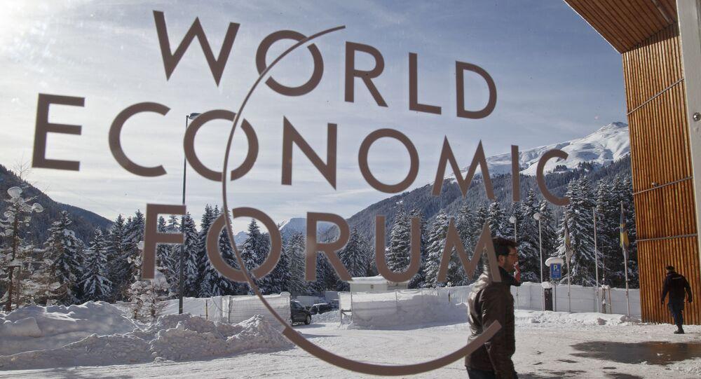 Entrada principal a las salas del Foro Ecónomico de Davos