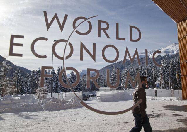 Entrada principal a las salas del Foro Ecónomico de Davos (archivo)