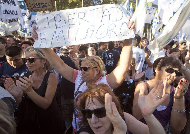 Protesta por el arresto de Milagro Sala