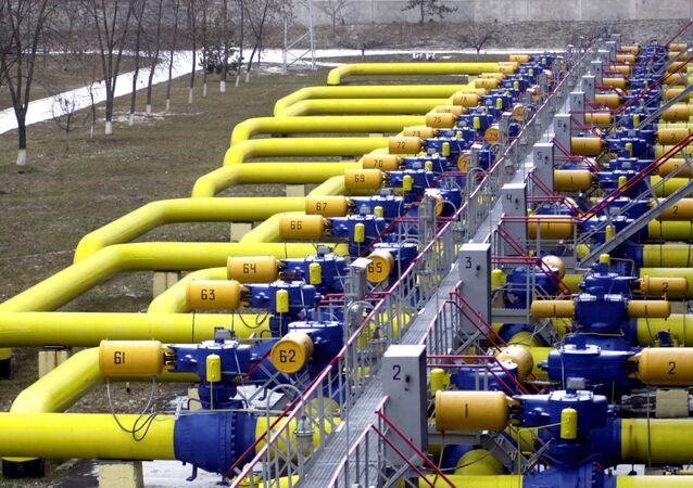 Tuberías de gas en Boyarka, Ucrania