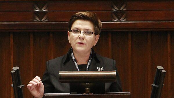 Beata Szydlo, primer ministra de Polonia - Sputnik Mundo
