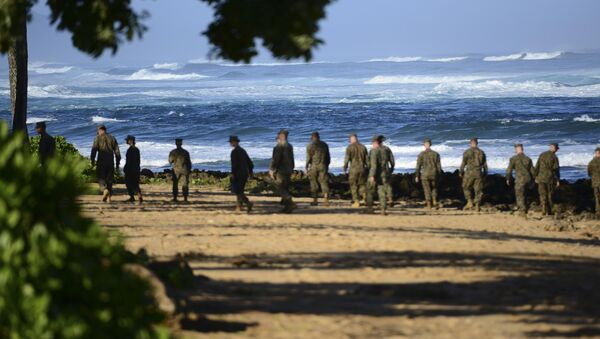 Marines estadounidenses en Hawái - Sputnik Mundo