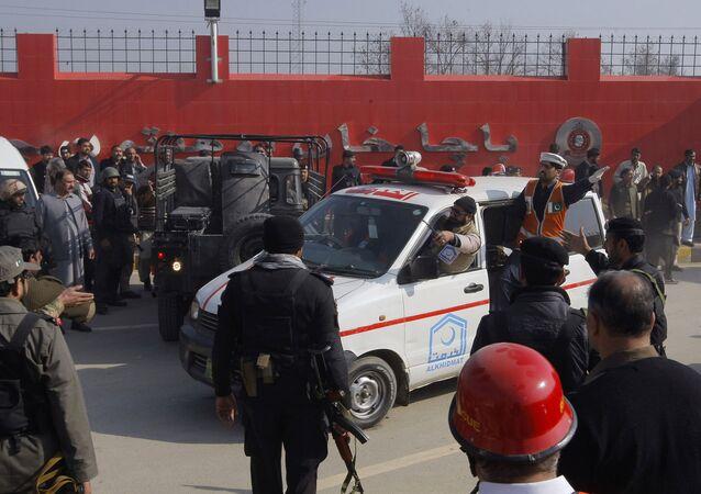 Lugar del ataque a la universidad Bacha Khan en la ciudad de Charsadda